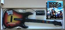 NEW PS3 Guitar Hero World Tour Wired Guitar & Rock Band 2 Game Bundle RARE