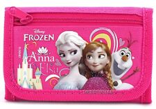 Disney Authentic Licensed Frozen Canvas Trifold Hot Pink Wallet for Children