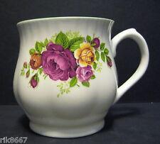 Cottage Rose Bulbous English Fine Bone China Mug Cup Beaker By Milton China