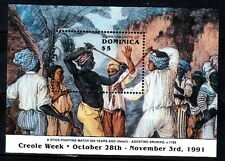 Dominica 1991 MNH SS, 200 yrs old Sports, Stick Fighting, Painting by Agostino B