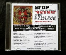 FIVE FINGER DEATH PUNCH The Way Of The Fist Rare 2009 Japan DJ CD  5FDP