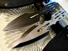 """Perfect Point Pro Double Huge Throwing Knife/Knives 2 Pc Dagger Set 2 Sheaths 9"""""""