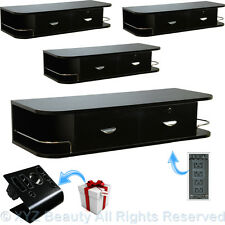 4x Black Contemporary Wall Mount Styling Station Barber Beauty Salon Equipment