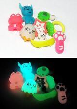 Glow-in-the-Dark School Erasers - 8 different designs - Glowing Kids Eraser Set