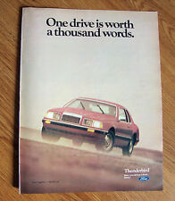 1984 Ford Thunderbird Ad One Drive is Worth a Thousand Words