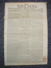 1814 THE NEWS London Newspaper; Napoleon At Elba, Painter vs Oliver Boxing Match