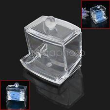 Boîte de coton tige bâtonnet porte distributeur pot en acrylique transparent