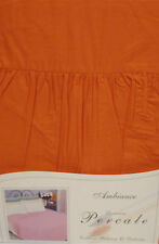 SINGLE BED PLATFORM / BASE VALANCE SHEET TERRA COTTA POLYCOTTON 180 THREAD COUNT