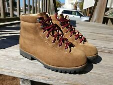 Vintage VASQUE Leather Suede Mountaineering Hiking boots Mens sz 9.5 Vibram 7531