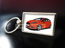 FORD FIESTA ST MK7 METAL KEY RING. CHOOSE YOUR CAR COLOUR.