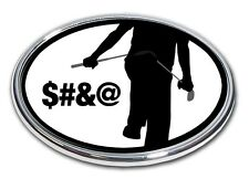 Golf is Frustrating Chrome Car or Truck Emblem Quality Made in the USA *NEW*
