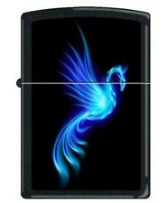 Zippo 0249 phoenix burning blue black matte Lighter
