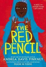 The Red Pencil by Andrea Davis Pinkney (2014,softcover) ARC SIGNED/DATED