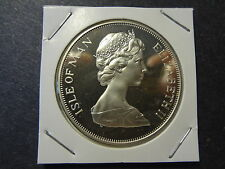 "ISLE OF MAN 1977 PROOF SILVER 1 CROWN "" SILVER JUBILEE """