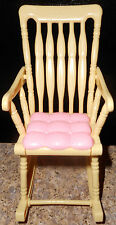 Barbie Rocking Chair Pink Yellow HAPPY FAMILY Nursery Furniture