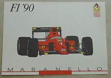 Galleria Ferrari 1993 f1 1990 Scheda Card brochure prospetto book libro Press