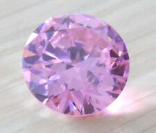 AAA Natural Pale Pink Zircon 6.02ct Diamonds Round Cut 10mm VVS Loose Gemstone