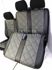 VW TRANSPORTER T5  VAN SEAT COVERS  GREY QUAD PVC LEATHER P150GYBK IN STOCK!!!!