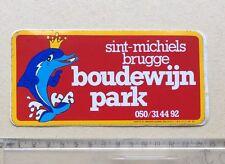 Autocollant DAUPHIN BOUDEWIJN PARK Sint Michiels Brugge Année 70/80