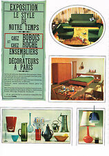 PUBLICITE ADVERTISING  1964    BOBOIS  & ROCHE  meubles