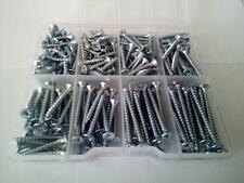 230 Pcs. Multipurpose screws zinc plated in plastic box - various lengths