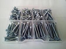230 Pcs. Multipurpose screws zinc plated in plastic box - various lengths