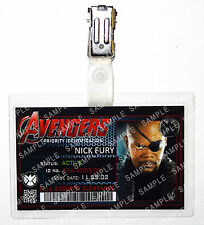 Marvel Avengers ID Badge Nick Fury Superhero Cosplay Costume Prop Halloween
