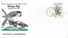 1968 Canadian Wildlife #478 Gray Jays FDC with Cole cachet
