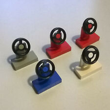 5X LEGO 3829 3829c01 Car Steering Stand and Wheel 6600 6950 5051 1993 6432 1656