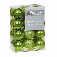 Arbre de noël décoration 24 pack 30mm mini incassable boules-vert