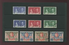 HONG KONG 1937 CORONATION + 1946 VICTORY SETS MINT + USED 10 stamps...cv £49