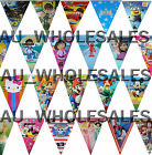 THEMED FLAG BANNER BUNTING (40+ DESIGNS) BIRTHDAY PARTY SUPPLIES DECORATION -1PK