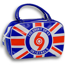 Spirit of 69 Retrò Union Jack Bowling Bag Tasche Skinhead O2 Punk Mod Ska Trojan