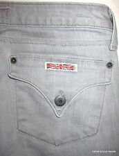 HUDSON Jeans Womens 27 Gray Denim Slim STRAIGHT Leg Designer Wharf Grey Denim