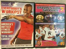 2 Dance exercise fitness DVD lot, DanceX X Everybody's workout Darrin's Grooves