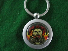 FEAR NO EVIL HOT ROD RAT CHOPPER BIKER CUSTOM HARLEY METAL KEYRING