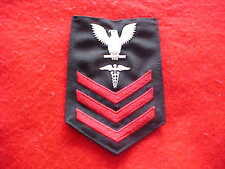 US Navy - Male Hospital Corpsman 1st Class rating Crow Navy Serge for winter