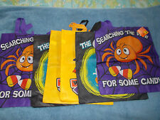 """Halloween Lot of 6 Trick or Treat Bags Large 14.5"""" x 16.5"""" with Handles NWT"""