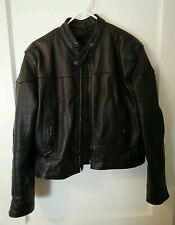 Pro-Rider Heavy Duty Leather Motorcycle Jacket w/ 3M Thinsulate size-38 USA