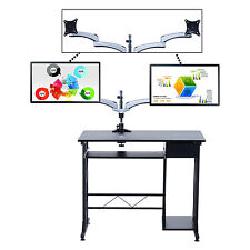 Homcom Computer support MONITEUR BUREAU Swing Bras pivotant réglable inclinable écran lcd led