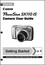 Canon Powershot SX110 IS Digital Camera User Instruction Guide  Manual