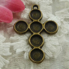Free Ship 180 pieces bronze plated cross charms 28x19mm #1771
