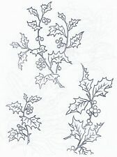Holly ~ Iron-on Embroidery Transfer Pattern 17
