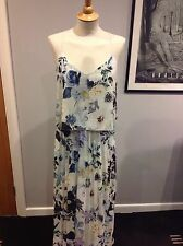 GORGEOUS NEXT SUMMER MAXI DRESS SIZE 10..LOVELY QUALITY..FULLY LINED  BNWT £65