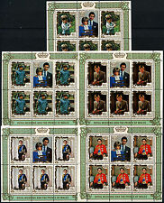 Penrhyn Islands 1981 SG#223-227 Royal Wedding MNH Sheetlets Set #D34125