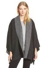 ELEEN FISHER DOUBLE FACE BABY ALPACA BLEND CHARCOAL PONCHO COAT M/L NWT $558