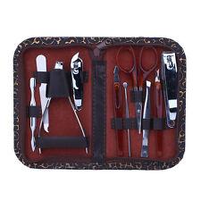 Manicure Set 10in1 Nail Clipper Earpick Grooming Pedicure kit Man Women 2016