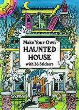 Sticker Activity Book: MAKE YOUR OWN HAUNTED HOUSE, old house scene, 36 stickers