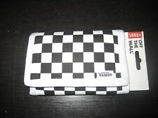 Vans Authentic OTW Black & White Slipped Tri-Fold Checkerboard Unisex Wallet