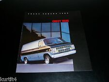 1985 Chevrolet Van G10 G20 G30 Cube Cargo sales brochure dealer literature